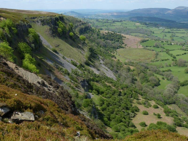 Walesisk bygd royaltyfria foton