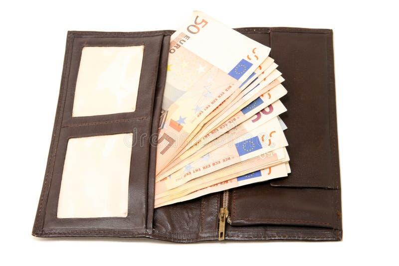 Walet y euro imagen de archivo libre de regalías