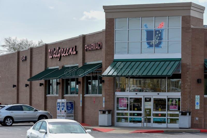 Walgreens Pharmacy entrance stock image