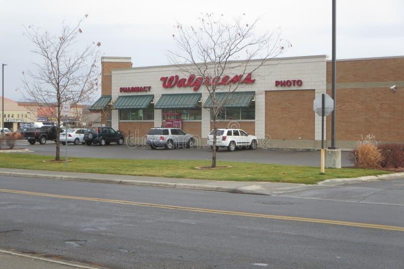 Walgreens pharmacy parking lot royalty free stock image
