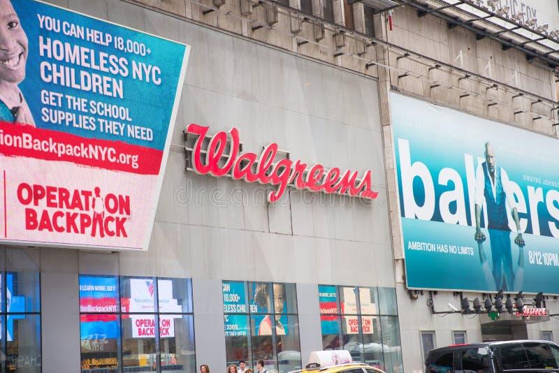 Walgreens-Speicher-Äußeres und Zeichen stockfotografie