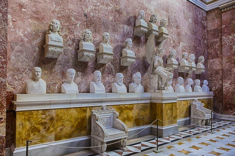 Marble bust of Friedrich Schiller in the Walhalla memorial ... |Inside Walhalla Memorial