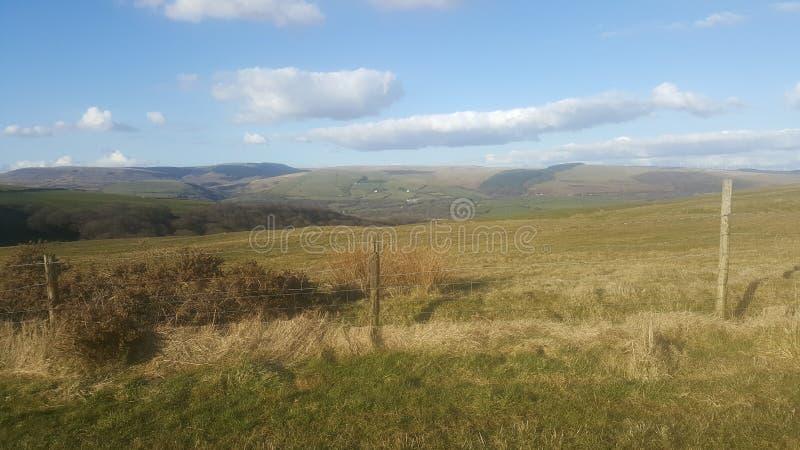 Walia vallies widoków Walijscy wzgórza fotografia royalty free