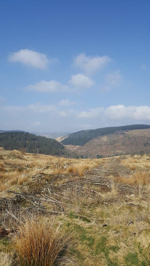 Walijscy Walia vallies wzgórzy widoki obraz stock