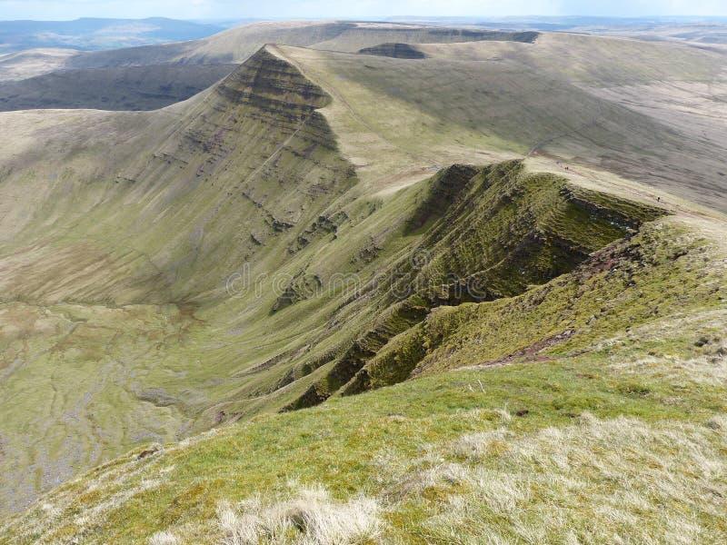 Walijscy wzgórza obraz royalty free