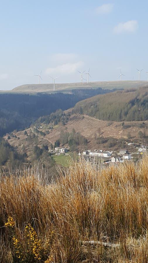 Walijska vallies widoków sceneria obrazy stock
