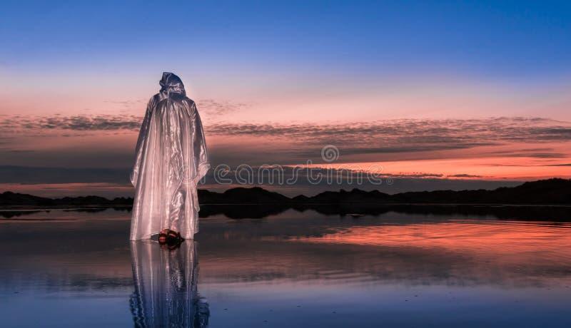 Waling su acqua Jesus Christ fotografia stock libera da diritti