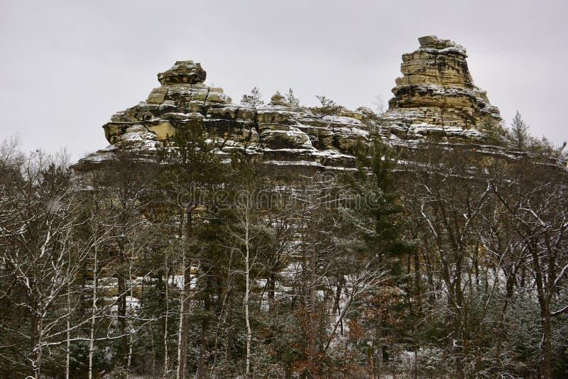 Walisische Sandstein-Felsformationen stockfoto