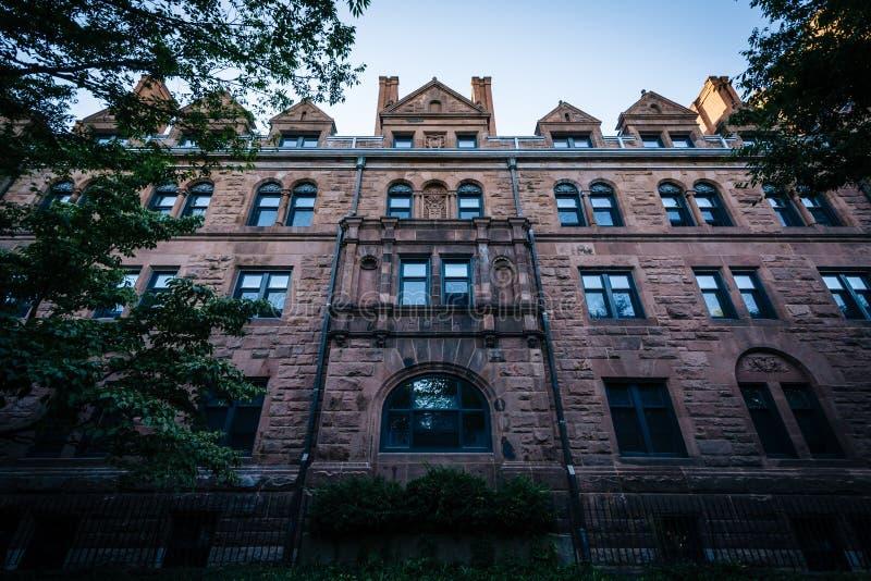 Walisischer Hall, auf dem Campus von Yale University, in New-Haven, Anschl. stockbilder