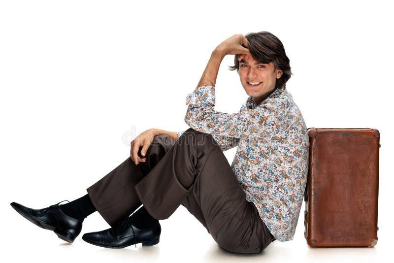 walizka człowieka obrazy stock