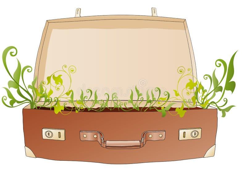 walizka otwarty wektor ilustracja wektor