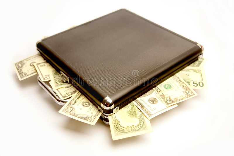 walizka pieniądze obrazy royalty free