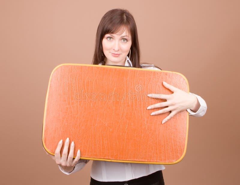 walizka podróżnego young obraz stock