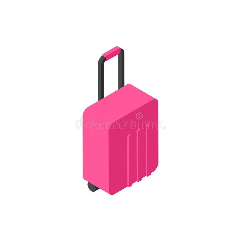 Walizki ikony podróży Isometric bagaż Odizolowywający pojęcie ilustracji