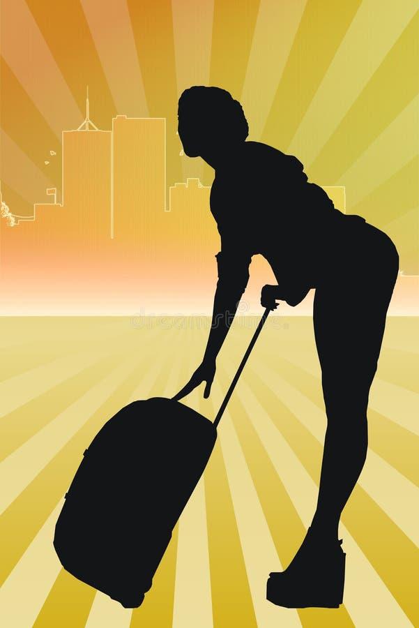 walizki kobiety potomstwa ilustracji