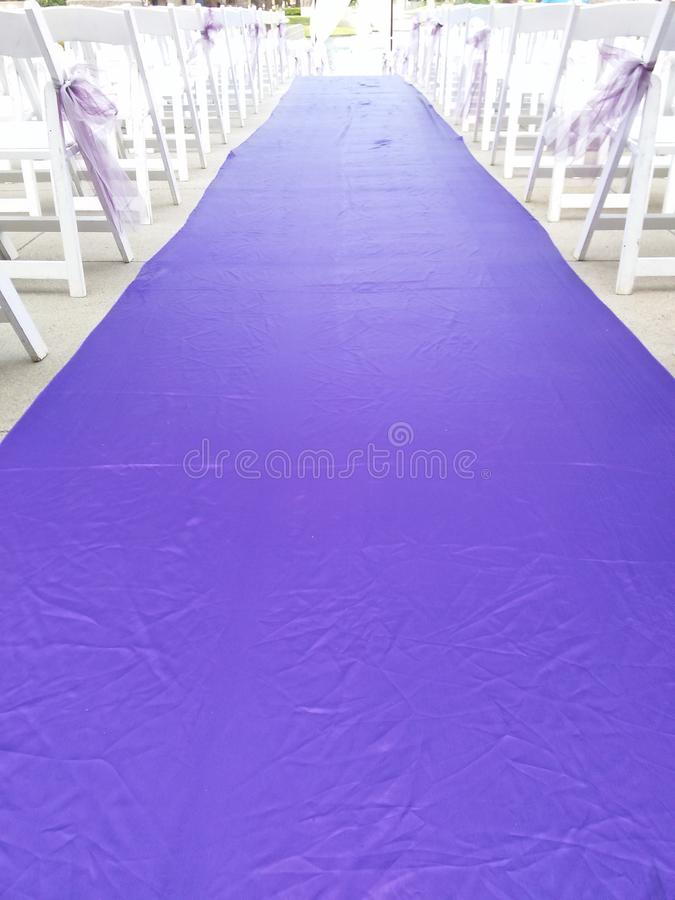 Walk the aisle royalty free stock images