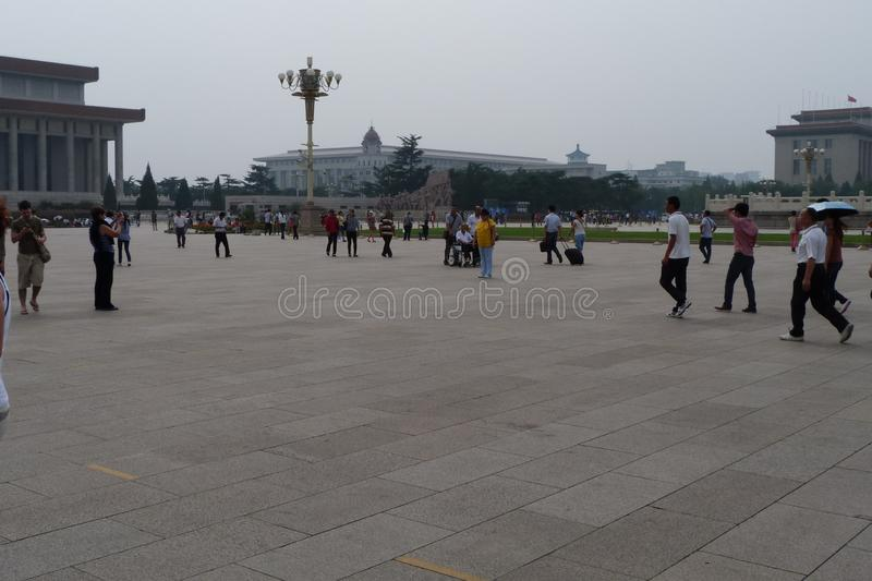 Walk around Beijing. Historical photos taken in 2012, in September.The central square of the city of Beijing stock images