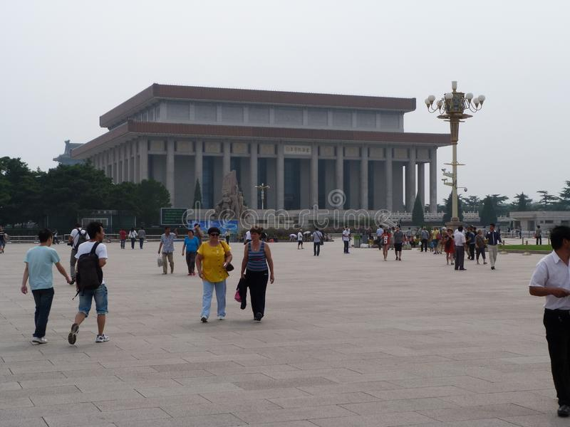 Walk around Beijing. Historical photos taken in 2012, in September.The central square of the city of Beijing royalty free stock photos