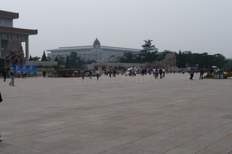 Walk around Beijing. Historical photos taken in 2012, in September.The central square of the city of Beijing stock photos