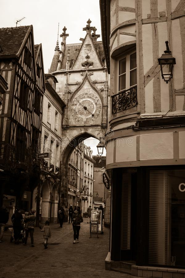 A walk around the historic center of Auxerre stock photo