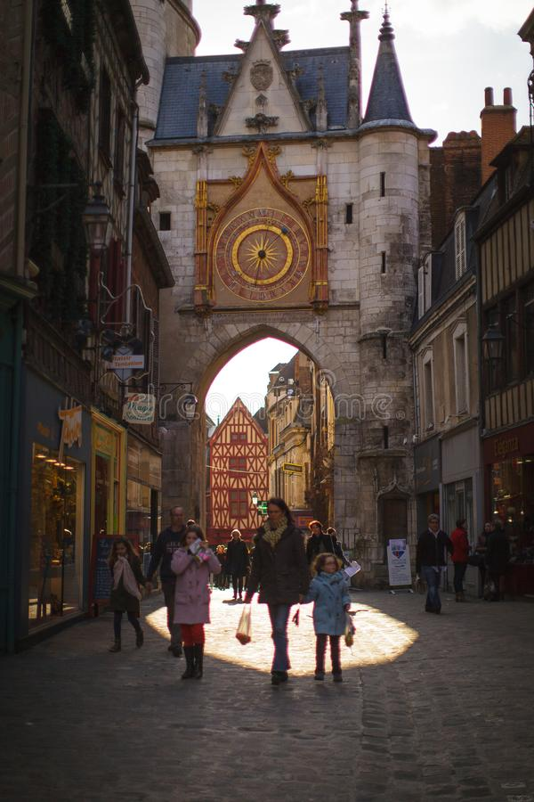 A walk around the historic center of Auxerre royalty free stock photos