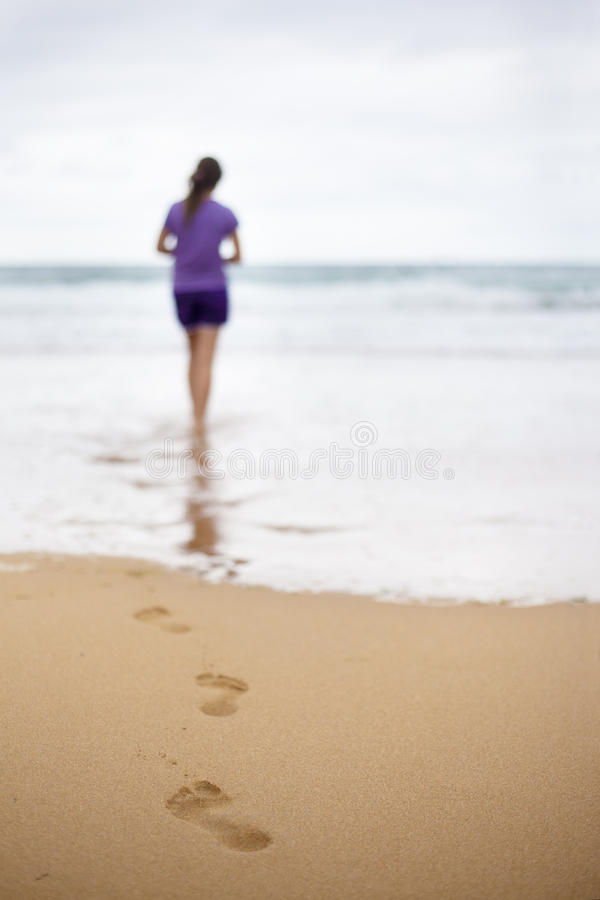 Download Walk on the Beach stock photo. Image of step, solitude - 27295346