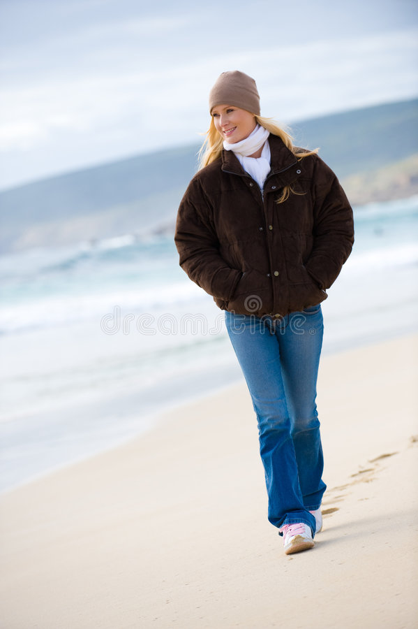 Download Walk On The Beach stock image. Image of outdoors, adult - 6192913