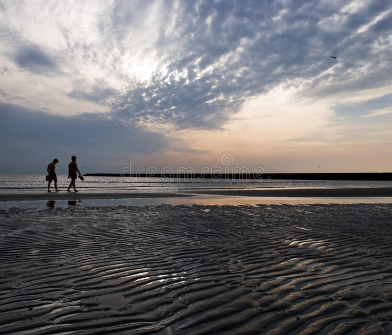 A walk on the beach royalty free stock images