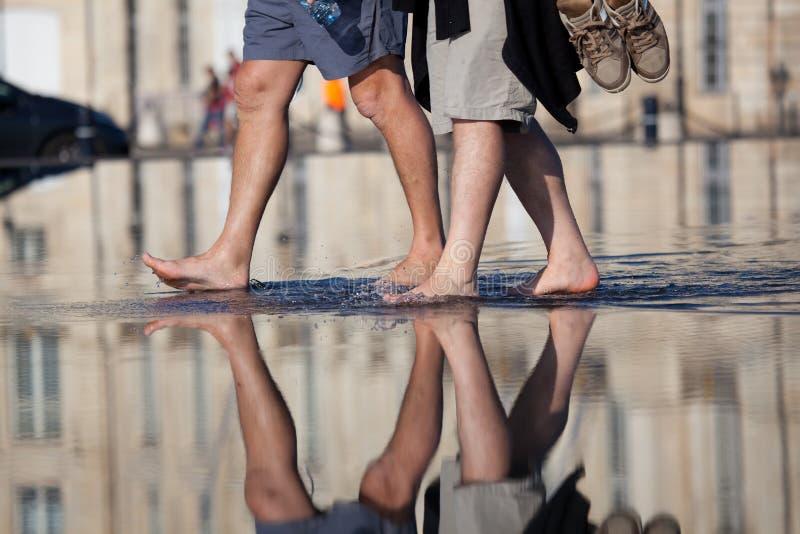 Walk In Bordeaux Stock Photo