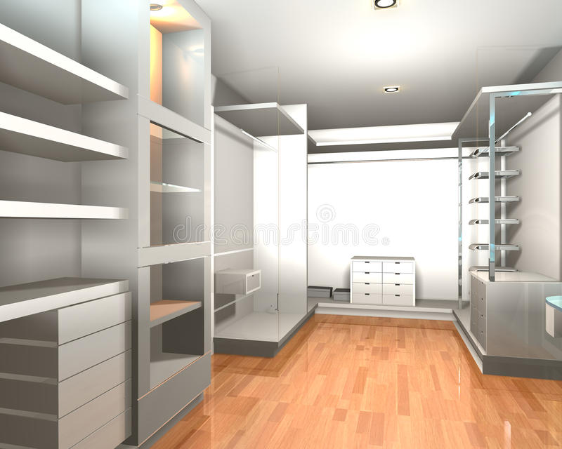 Walk in closet vector illustration
