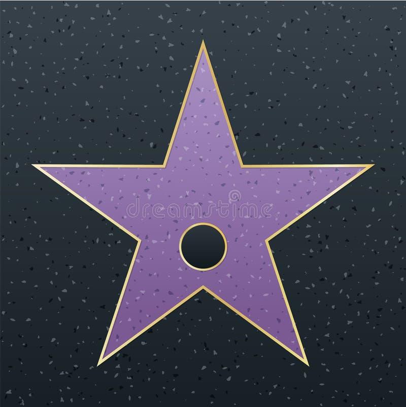 Walk of fame star illustration. Famous reward symbol. Achievement of actor celebrity. Hollywood vector success design. Fame symbol royalty free illustration