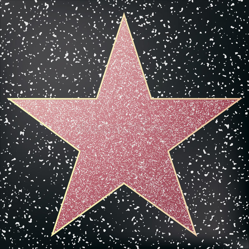 Walk of fame star. Star hollywood. stock illustration