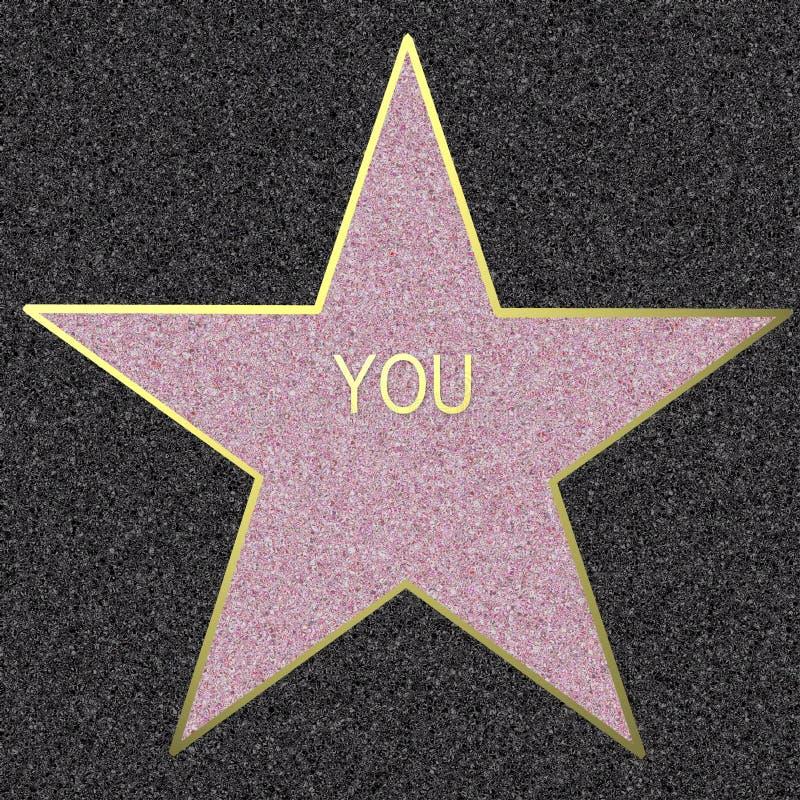 Walk Of Fame, YOU illustration royalty free illustration