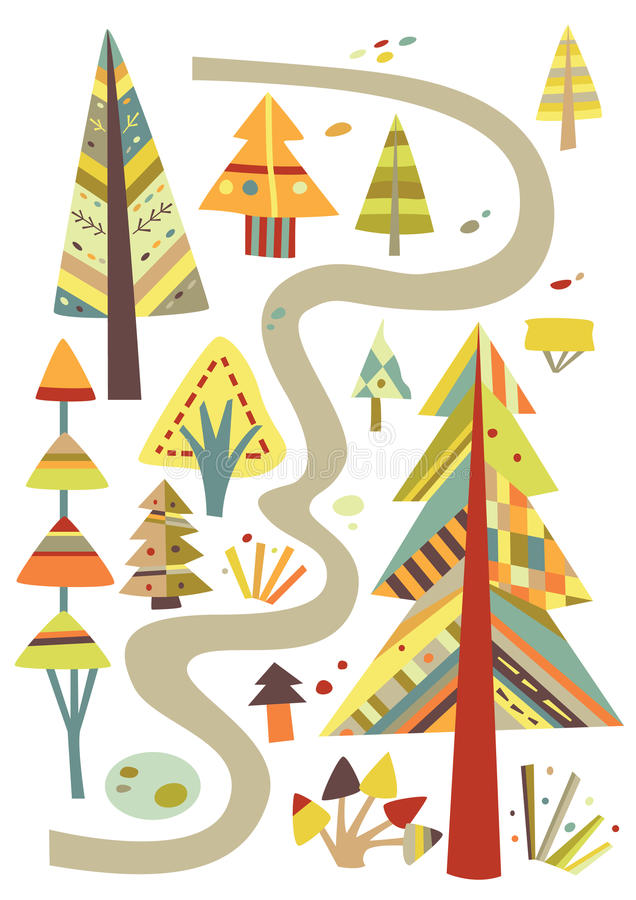 Download Walk in the Forest stock vector. Illustration of travel - 15850110