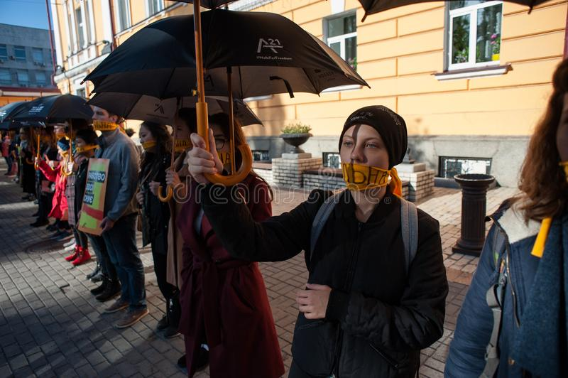 Walk for Freedom annual international event. October 16, 2017. Kyiv, Ukraine. Walk for Freedom annual international event. About a hundred people passed along stock photography