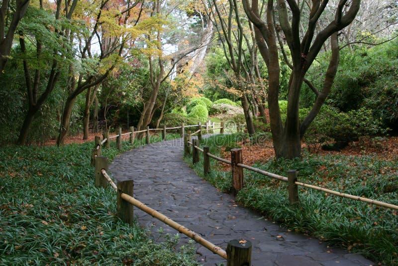 A walk in the Japanese Tea Gardens stock photo