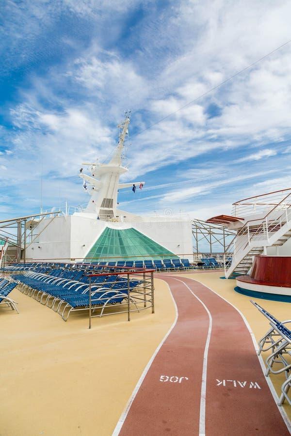 Walk Jog Track On Cruise Ship Stock Photo Image - Track a cruise ship