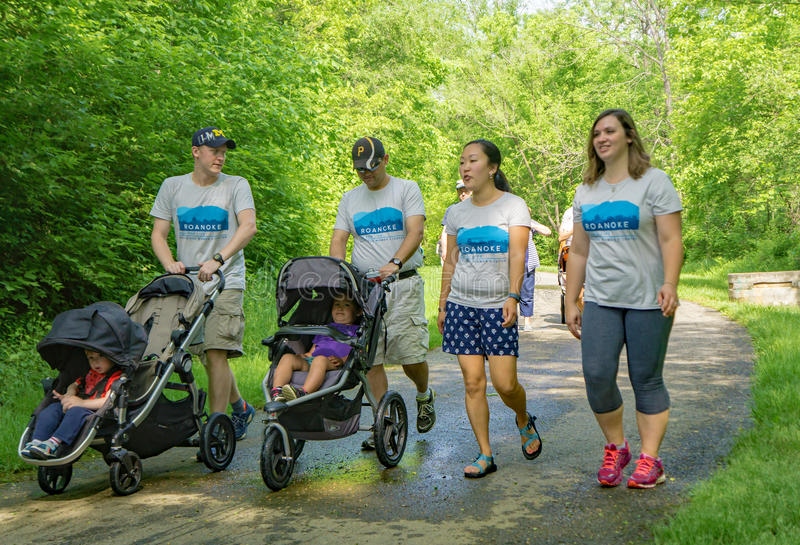 Walk for Life, Roanoke, Virginia, USA stock photography