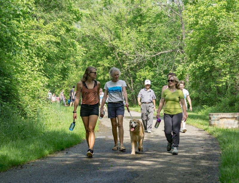 Walk for Life, Roanoke, Virginia, USA royalty free stock photo