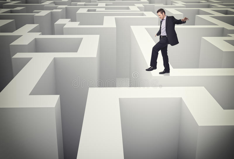 Download Walk on maze stock illustration. Image of challenge, complex - 23525534