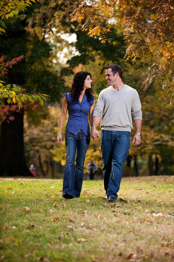Walk Park Love royalty free stock images