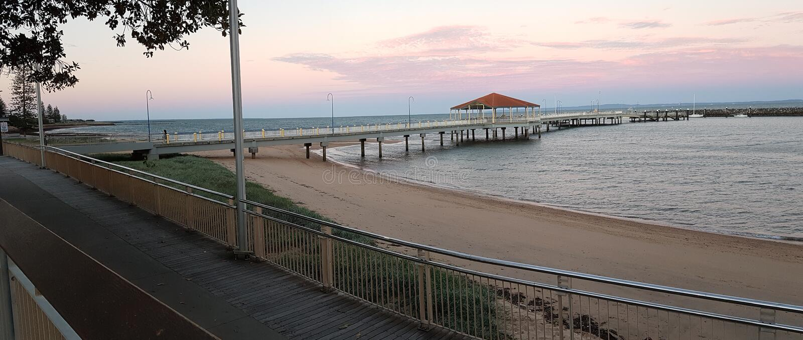 Redcliffe Jetty stock photos
