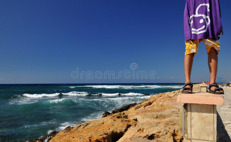 Walk by the sea royalty free stock photos