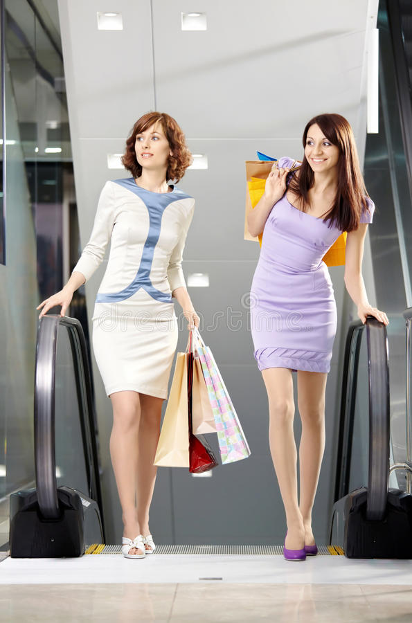 Walk on shopping royalty free stock images