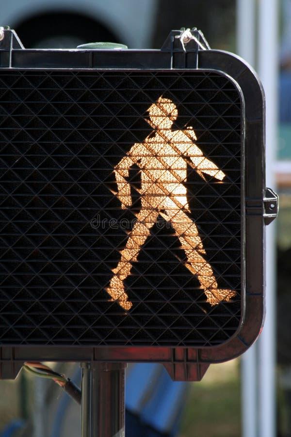 Walk sign. Safe cross the street royalty free stock photos