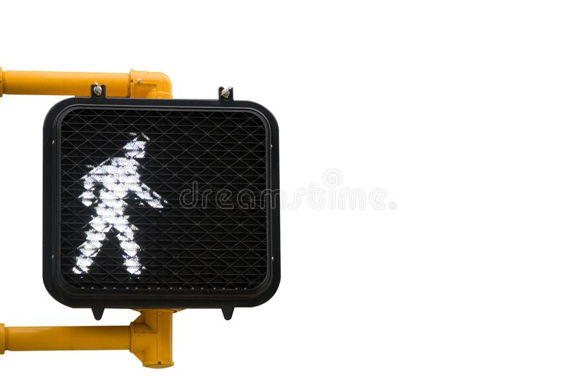 Walk Sign on White stock photography