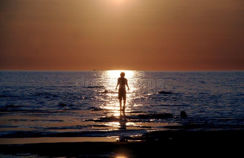 Walk sun warm0625b royalty free stock image