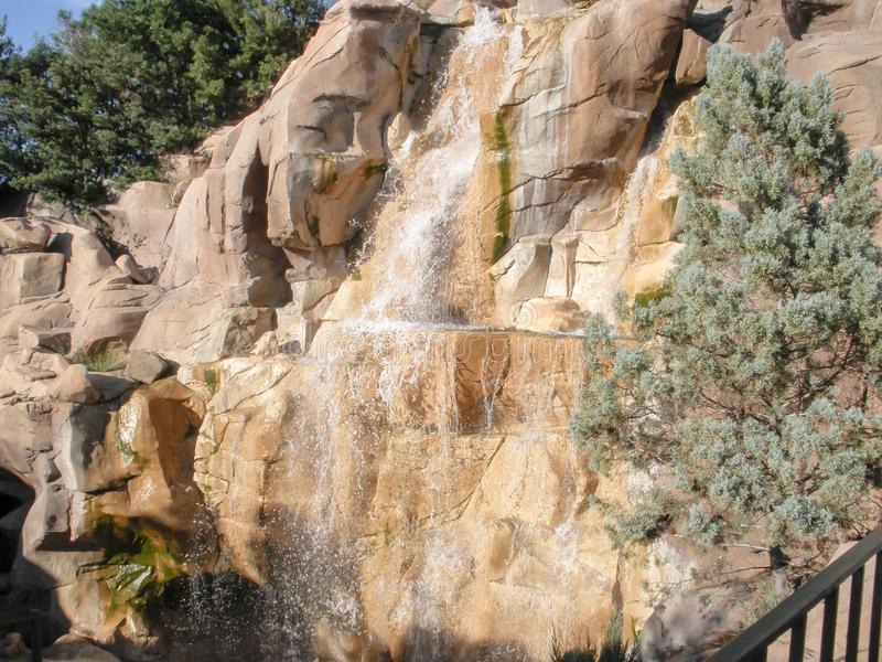 Cliffside Waterfall royalty free stock images
