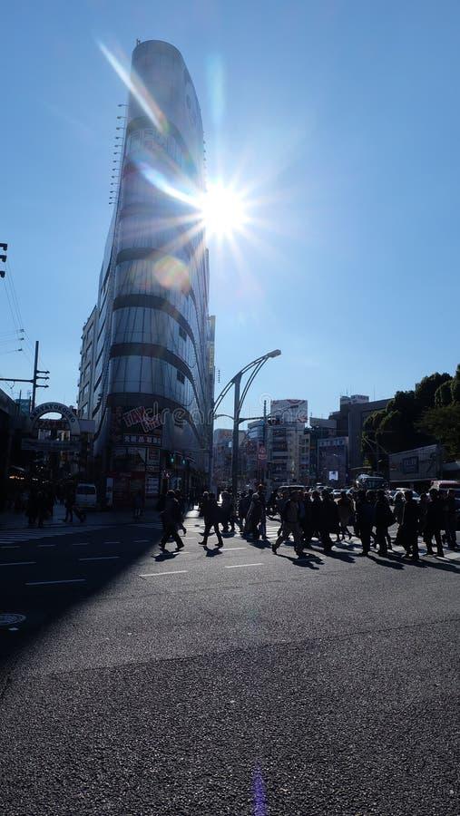 Walk time, Japan, Osaka royalty free stock photos