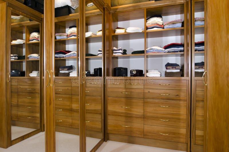Walk in wardrobe stock photos